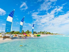 Beautiful beach of Varadero in Cuba on a sunny summer day. Photo via GETTYIMAGES.