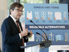 Environment and Climate Change Minister Jonathan Wilkinson announces a ban of specific plastic products Wednesday, Oct. 7, 2020 in Gatineau, Quebec.