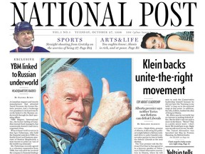 The first edition of the National Post was published on Oct. 27, 1998.