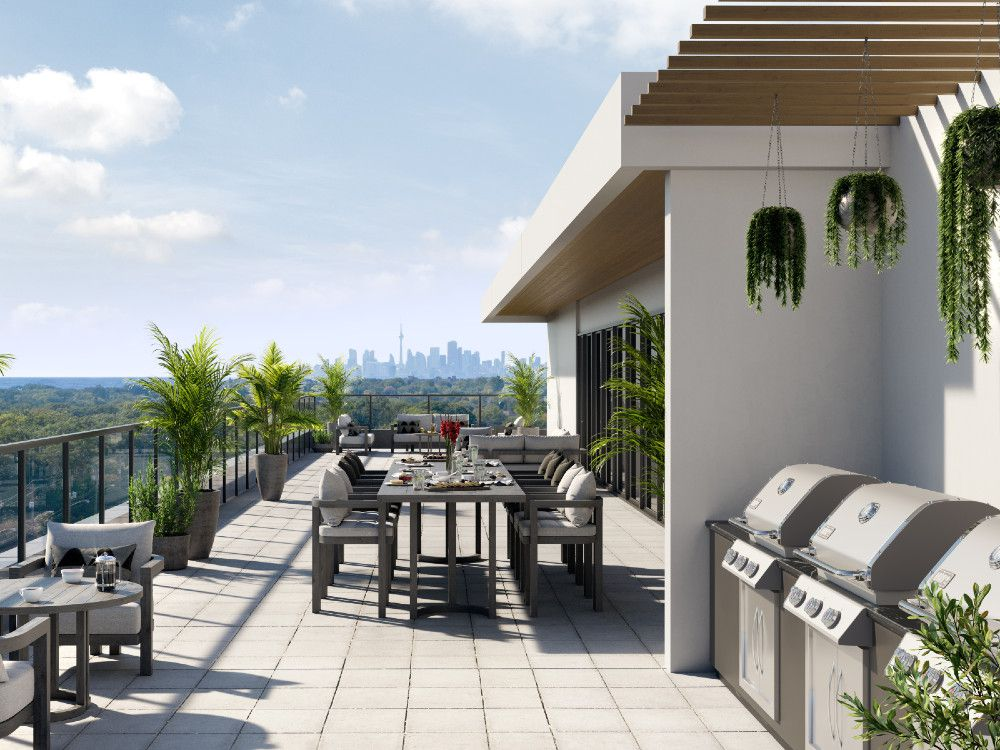 The rooftop entertainment area will be wrapped by an outdoor terrace with dining and barbecue areas. P