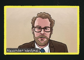 Dr. Alexander Westphal, a U.S. psychiatrist specializing in autism, is seen in this artist's impression.