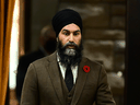 NDP leader Jagmeet Singh during question period in the House of Commons on Wednesday, Nov. 4, 2020.