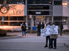 People protest outside the SIU headquarters in Mississauga, Ont. following an incident in Kawartha Lakes, Ont., on Thursday, November 26, 2020.