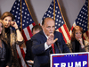 U.S. President Donald Trump's legal team, lead by former New York City Mayor Rudy Giuliani, hold a news conference regarding their efforts to overturn the results of the 2020 U.S. presidential election, in Washington, November 19, 2020.