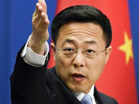 Chinese Foreign Ministry spokesman Zhao Lijian  says Canada better fits the description of a nation perpetrating a genocide.