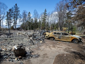 A fire-destroyed property registered to Gabriel Wortman on Portapique Beach Road in Nova Scotia is seen on Friday, May 8, 2020.