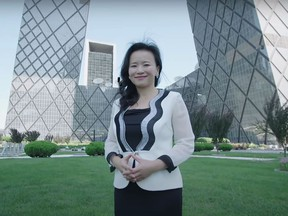 This undated frame from video shows Australian journalist Cheng Lei, who has been detained in China since mid-August.