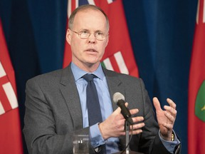 Adalsteinn Brown, co-chair of Ontario's COVID-19 science advisory table, answers questions during a news conference at Queen's Park in Toronto on April 20, 2020.