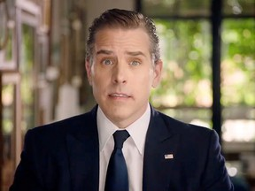 Hunter Biden, the son of president-elect Joe Biden, speaks by video feed during the  Democratic National Convention, on Aug. 20, 2020. Hunter Biden is the subject of a federal tax probe, it was revealed this week.