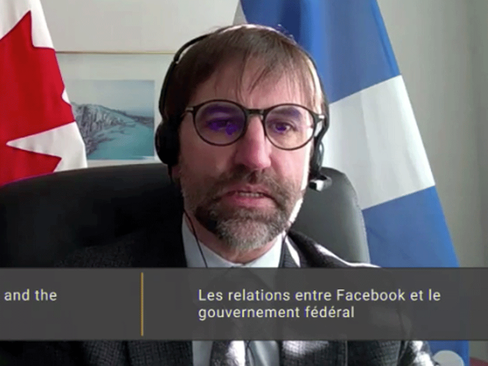 Canadian Heritage Minister Steven Guilbeault testifies via videoconference before the House of Commons heritage committee on Friday, January 29, 2021.