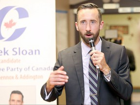 Federal Conservative leader Erin O'Toole is called for Hastins-Lennox and Addington MP Derek Sloan to be expelled from the party caucus after he accused Sloan of accepting a leadership campaign donation from an alleged right-wing white supremacist.