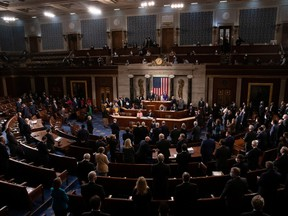The House floor convenes before a joint session of the House and Senate convenes to count the Electoral College votes cast in November's election, at the Capitol in Washington, U.S., January 6, 2021.