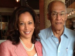 Kamala Harris pictured with her father Donald.