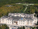 Navalny's video published an architectural plan and drone footage of a gigantic palace near Gelendzhik on the Black Sea, including a cellar winery, an indoor ice rink and a casino. The video alleged it was built for Putin using a complex