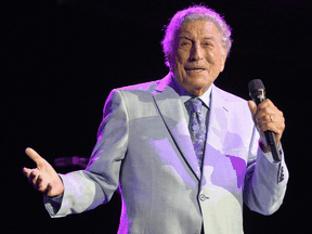 Tony Bennett performs during a concert on August 8, 2019 in Everett, Massachusetts. Bennett's family was encouraged by his doctor to keep him singing and performing as long as he enjoyed it, despite his Alzheimer's diagnosis.