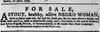 An ad published in the Quebec Gazette on July 5, 1787.