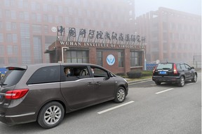 WHO team members visit the Wuhan Institute of Virology on February 3.