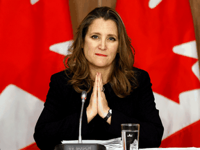 Business groups are pushing for support in Finance Minister Chrystia Freeland's budget on April 19, 2021.