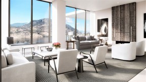 A rendering of the $10 million penthouse at Kelowna's One Water Street.