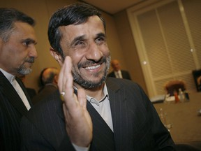 Then-Iranian president Mahmoud Ahmadinejad arrives in Geneva for the Durban Review Conference (Durban II), in 2009.