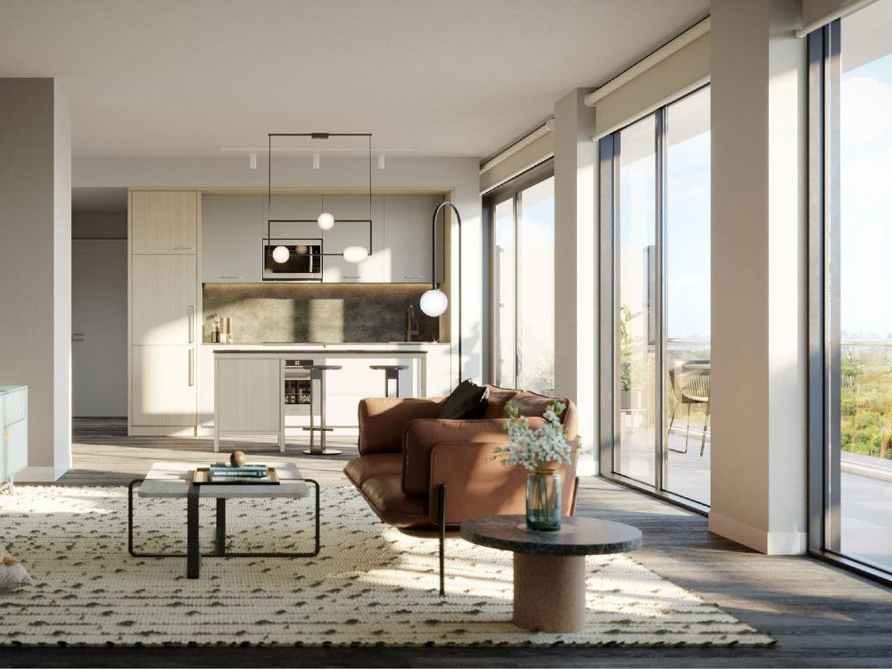 Finishes in the units will be offered in three colour palettes curated by the interior designers at Toronto-based Mason Studio.