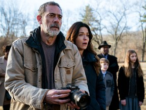Awestruck: Jeffrey Dean Morgan and Katie Aselton in The Unholy.