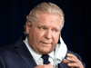 "Ontario Premier Doug Ford announces an Ontario-wide ""shutdown'' will be put in place to combat an ""alarming'' surge in COVID-19 infections during the daily briefing at Queen's Park in Toronto on Thursday April 1, 2021."