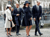 The former Fab Four — Prince Harry, Meghan Markle, Prince William and Kate, the Duchess of Cambridge — in 2018.