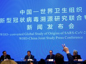 Peter Ben Embarek, a member of the World Health Organization (WHO) team tasked with investigating the origins of the coronavirus disease (COVID-19), attends the WHO-China joint study news conference at a hotel in Wuhan, China on February 9, 2021.