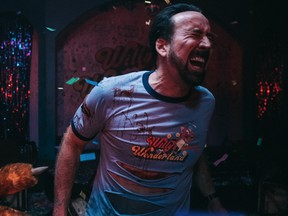 Nicolas Cage delivers a wordless, pinball-obsessed performance in Willy's Wonderland.