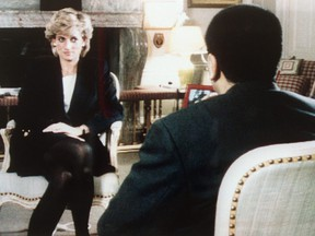 The Princess of Wales is interviewed by the BBC's Martin Bashir in the current affairs program, Panorama, on Nov. 20, 1995.