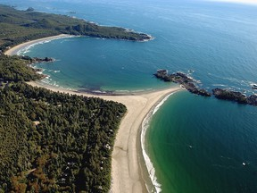 Chesterman Beach, south of the town of Tofino.