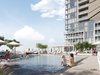1. Amenities at M4swill include a saltwater pool and outdoor terrace.