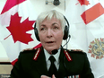 Lt. Gen. Jennie Carignan speaks virtually to the House of Commons status of women committee on Tuesday, May 11, 2021.