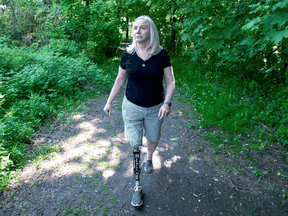 For 15 years, Captain Kim Fawcett has battled with the Canadian Forces to pay for prosthetics she needed after a horrific car crash that also killed her son.