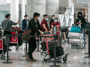The Ontario government has formally requested that Ottawa impose rules on interprovincial air travellers similar to ones applied to passengers arriving from abroad