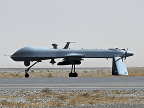 An armed U.S. Predator drone. The Canadian military is making preparations for its own fleet of armed drones.