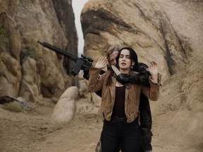 He brought a knife and a gun to a gunfight: Ana de la Reguera in The Forever Purge.