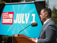 Alberta Premier Jason Kenney reveals the Open for Summer Plan as the province crosses the 70 per cent first dose COVID-19 vaccine target on June 18, 2021.