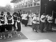 Undated photo of a religious procession at Marieval Indian Residential School.