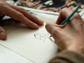 Handy with a pencil: Tove Jansson created the Moomins in the 1940s.