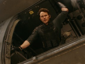 Chris Pratt prepares to jump into the future to fight aliens in The Tomorrow War.