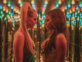 From left, Riley Keough and Taylour Paige in Zola.