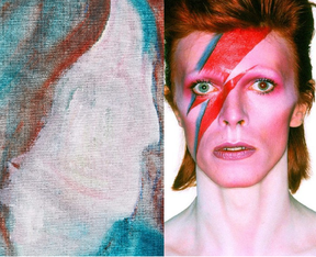 A painting by David Bowie named D Head XLVI that reflects his avant-garde style.