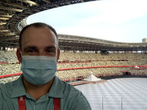 Reporter Wes Gilbertson is on the ground in Tokyo, covering his first Olympic Games. The most important thing for a newbie to remember while reporting on the world's largest stage? Make sure you send pictures to your mom.