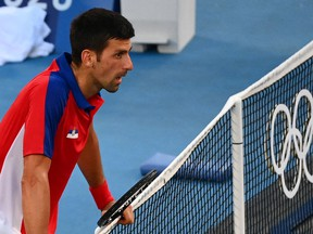World No. 1 and 20-times Grand Slam champion Novak Djokovic will leave the Olympics without a medal for the third Games in succession after pulling out of Saturday's mixed doubles final with a shoulder injury.