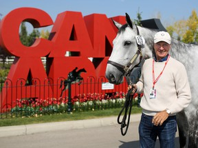 Canadian rider Mario Deslauriers was photographed with his horse Westbrook at Spruce Meadows on Tuesday September 5, 2017.