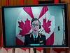 Brig.-Gen. Krista Brodie, Vice President of Vaccine Logistics and Operations at the Public Health Agency of Canada, speaks via videoconference at a news conference on June 4, 2021.