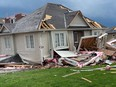 The aftermath of a tornado in Barrie, Ontario, on July 15, 2021.