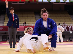 The International Judo Federation has praised a Saudi Arabian woman for competing against an Israeli foe at the Tokyo Olympics after two other athletes from Arab countries refused to do the same.